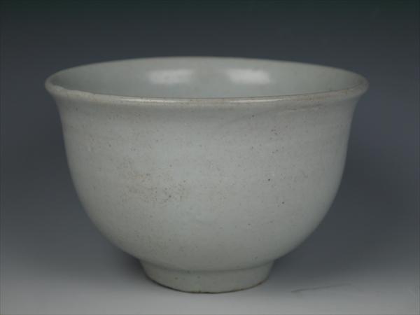 李朝初期 白磁茶碗