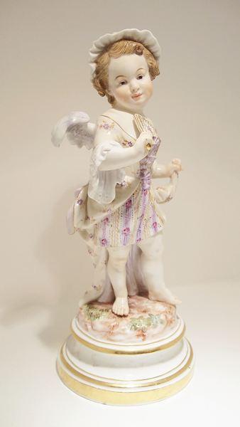 マイセン 扇子を持つ天使
