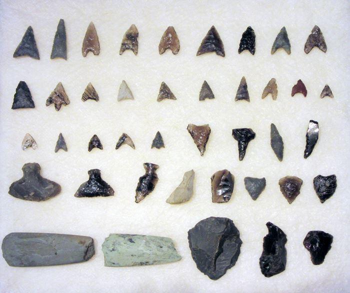 縄文時代・旧石器時代 長野県三夜塚遺跡 石鏃 石器