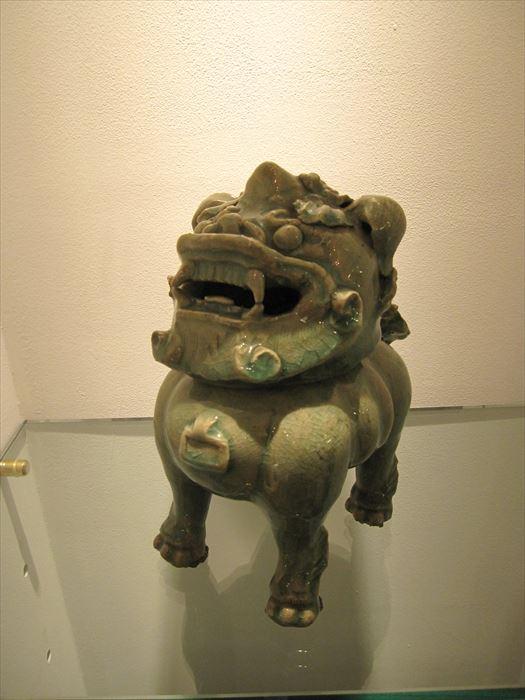 中国 清朝青磁獅子香炉