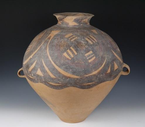 中国 アンダーソン土器 彩陶双耳壺