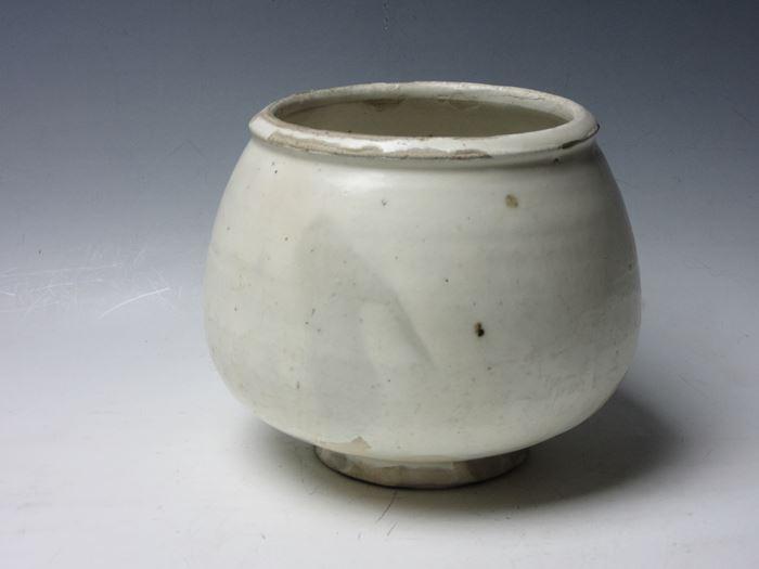 中国 磁州窯白釉壷