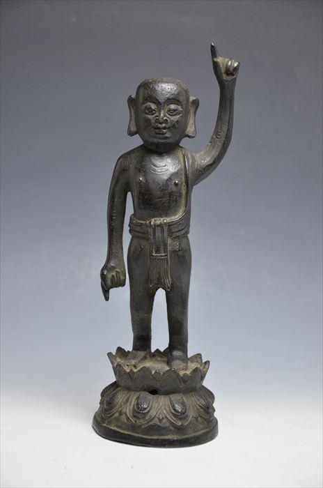 中国 古銅誕生仏